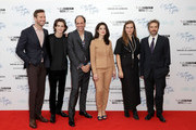 """(L-R) Armie Hammer, Timothee Chalamet, Luca Guadagnino, Esther Garrel Emilie George and guest attend the Mayor Of London Gala & UK Premiere of """"Call Me By Your Name"""" during the 61st BFI London Film Festival on October 9, 2017 in London, England."""