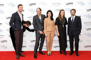 """(L-R) Armie Hammer, Timothee Chalamet, Luca Guadagnino, Esther Garrel and guest attend the Mayor Of London Gala & UK Premiere of """"Call Me By Your Name"""" during the 61st BFI London Film Festival on October 9, 2017 in London, England."""
