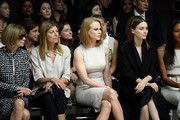 (L-R) Anna Wintour, Virginia Smith, Nicole Kidman, Rooney Mara and Naomie Harris attend the Calvin Klein Collection fashion show during Mercedes-Benz Fashion Week Spring 2014 at Spring Studios on September 12, 2013 in New York City.