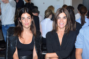 Julia Restoin Roitfeld (L) and Carine Roitfeld attend the Calvin Klein Collection Spring 2016 fashion show during New York Fashion Week: The Shows at Spring Studios on September 17, 2015 in New York City.