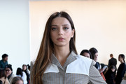 Angela Sarafyan attends the Calvin Luo front row during New York Fashion Week: The Shows at Gallery I at Spring Studios on February 13, 2019 in New York City.
