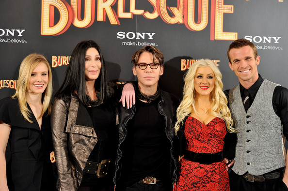 Cam Gigandet (L to R) Actresses Kristen Bell, Cher, director Steven Antin, Christina Aguilera and actor Cam Gigandet attend