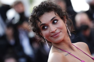 """Camelia Jordana """"Annette"""" & Opening Ceremony Red Carpet - The 74th Annual Cannes Film Festival"""