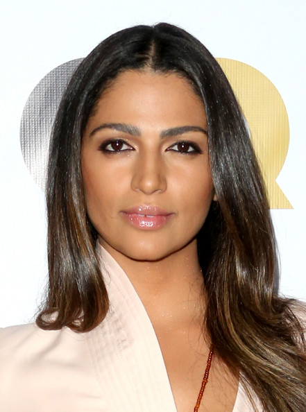 GQ Men Of The Year Party - Arrivals [hair,face,eyebrow,hairstyle,chin,lip,beauty,long hair,forehead,black hair,arrivals,camila alves mcconaughey,los angeles,the ebell club,california,gq men of the year party]