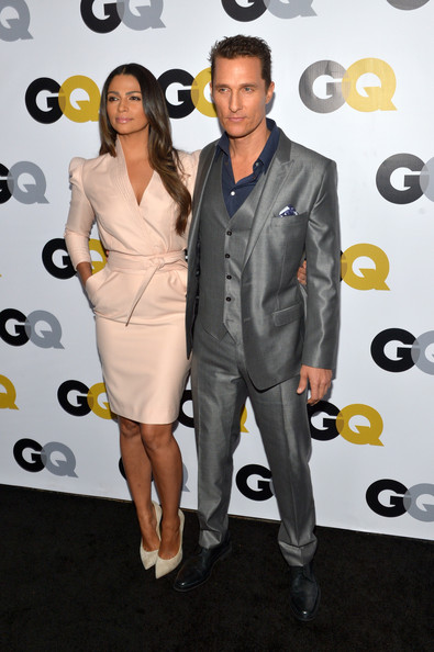 GQ Men Of The Year Party - Carpet [suit,clothing,formal wear,fashion,carpet,dress,event,tuxedo,premiere,footwear,carpet,camila alves mcconaughey,matthew mcconaughey,los angeles,california,the ebell club,gq men of the year,gq men of the year party]