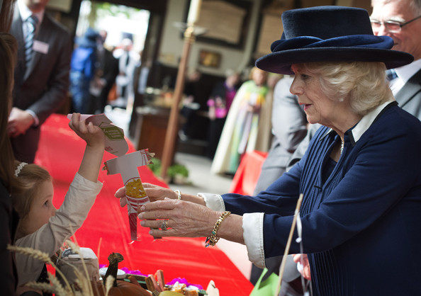 Camilla, Duchess of Cornwall meets well-wishers as she attends the National Harvest Service at Birmingham Cathedral on October 20, 2014 in Birmingham, England.