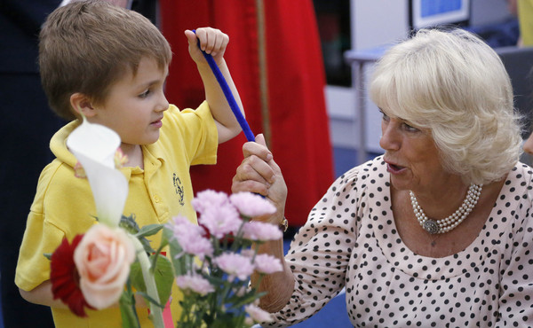 The Duchess of Cornwall Visits St Peter's Eaton School