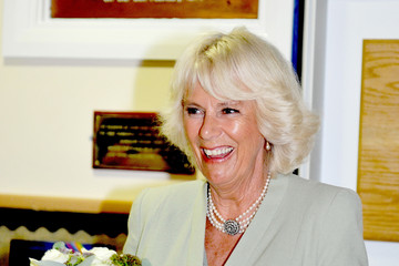 Camilla Parker Bowles The Prince Of Wales & Duchess Of Cornwall Visit Lache Primary School, Chester