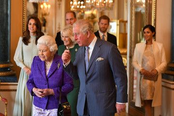 Camilla Parker Bowles Meghan Markle Queen Elizabeth II Marks The Fiftieth Anniversary Of The Investiture Of The Prince Of Wales