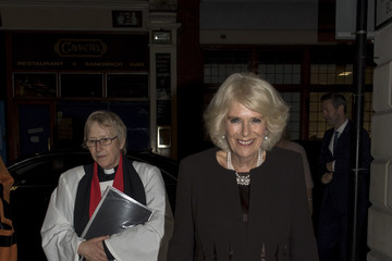 Camilla Parker Bowles The Duchess of Cornwall Attends a Commemorative Service at St. Bride's Church