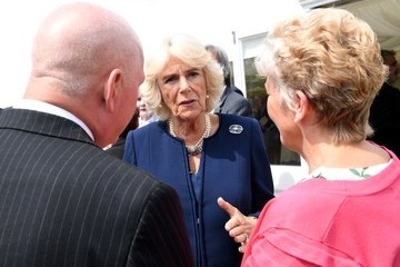 Camilla Parker Bowles The Prince Of Wales And The Duchess Of Cornwall Visit The National Memorial Arboretum