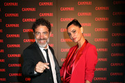 Cristian Marazziti and Catrinel Marlon attend Campari Closing Party Entering Red on September 06, 2019 in Venice, Italy.