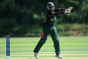 Maurice Ouma of Kenya in action during the ICC World Cricket League Division One match between Canada and Kenya at the Excelsior Cricket Club on July 9, 2010 in Schiedam, Netherlands.