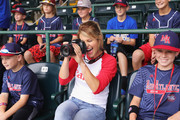 Actress Candace Cameron Bure tests the Canon EOS 80D at the Little League World Series on August 21, 2016 in South Williamsport, Pennsylvania.