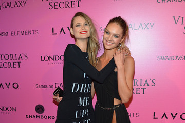 Candice Swanepoel Behati Prinsloo Samsung Galaxy Features Arrivals At The Official Victoria's Secret Fashion Show After Party