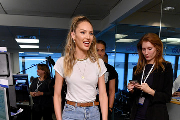Candice Swanepoel Annual Charity Day Hosted By Cantor Fitzgerald, BGC, And GFI - Cantor Fitzgerald Office - Arrivals
