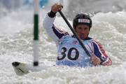 Daniel Goddard of Great Britain competes in the Men's C1 Semi Final during the ICF Canoe Slalom World Cup at Cardiff International White Water on June 9, 2012 in Cardiff, Wales.