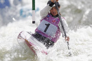 Jessica Fox of Australia competes in the Women's C1 semi final during the ICF Canoe Slalom World Cup at Cardiff International White Water on June 9, 2012 in Cardiff, Wales.