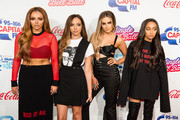 (L-R) Jesy Nelson, Jade Thirlwall, Perrie Edwards and Leigh-Anne Pinnock from Little Mix attend Capital's Jingle Bell Ball with Coca-Cola on December 3, 2016 in London, United Kingdom.