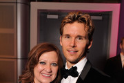 """Caroline Manzo from the """"Real Housewives of New Jersey"""" poses with Ryan Kwanten as they attend the Capitol File's 7th Annual White House Correspondents' Association Dinner after party at The Newseum on April 28, 2012 in Washington, DC."""