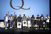 (L-R) Lil Yachty, Takeoff, President of Motown Records, Ethiopia Habtemariam, COO of Quality Control Music Coach K, CEO of Quality Control, Pee, Yung Miami of City Girls, Offset, , Lil Baby, and Quavo attend Capitol Music Group's 5th annual Capitol Congress Premieres new music and projects for industry and media at Arclight Cinemas Hollywood on August 8, 2018 in Los Angeles, California.