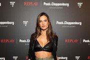 Alessandra Ambrosio attends the launch event for the new Capsule Collection Neymar Jr. x Replay at Weltstadthaus on February 13, 2020 in Duesseldorf, Germany.