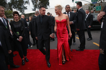 Carey Hart Arrivals at the Grammy Awards — Part 2