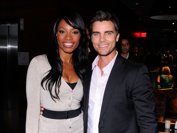 ... in this photo colin egglesfield cari champion l r cari champion and