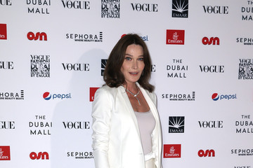 Carla Bruni-Sarkozy Vogue Fashion Dubai Experience 2015 - Gala Event Arrivals