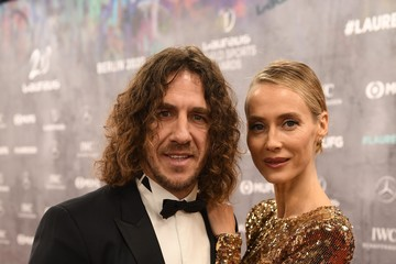 Carles Puyol Vanessa Lorenzo Red Carpet - 2020 Laureus World Sports Awards - Berlin