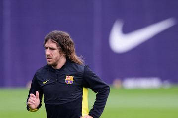 Carles Puyol FC Barcelona Training Session