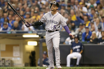 Carlos Gonzalez Divisional Round - Colorado Rockies vs. Milwaukee Brewers - Game Two