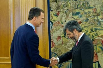 Carlos Lesmes Serrano King Felipe VI of Spain Attends Audiences