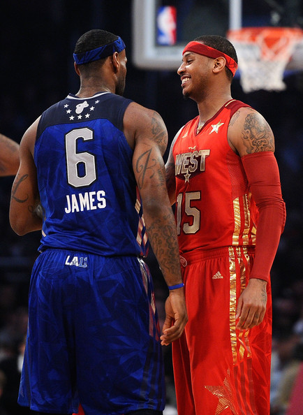 Carmelo Anthony 2011. Carmelo Anthony LeBron James