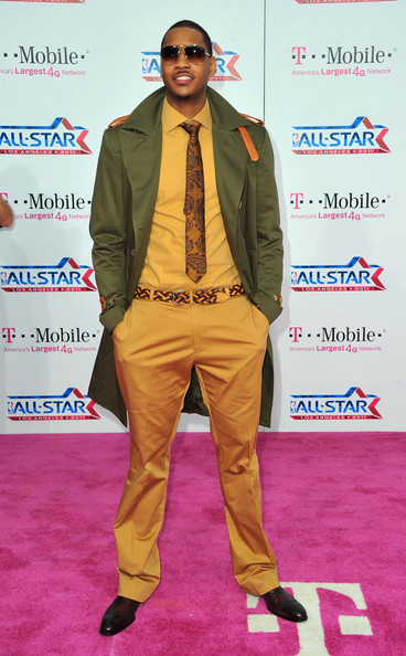 Carmelo Anthony NBA player Carmelo Anthony arrives to the T-Mobile Magenta Carpet at the 2011 NBA All-Star Game on February 20, 2011 in Los Angeles, California.