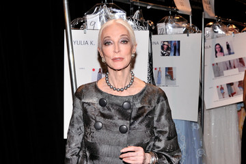 Carmen Dell'Orefice MBFW: Backstage at Dennis Basso