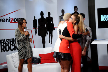 Carmen Electra Garnier, Maybelline New York, And Verizon Backstage At Fashion Rocks 2014
