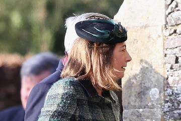 Carole Middleton The Royal Family Attend Church On Christmas Day