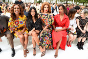 Janet Mock, Vanessa Hudgens, Valentina, and Sabrina Elba attend the front row of Carolina Herrera fashion show during New York Fashion Weekon September 09, 2019 in New York City.