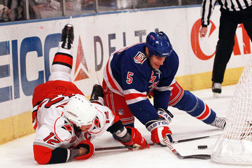 Daniel Girardi Carolina Hurricanes v New York Rangers