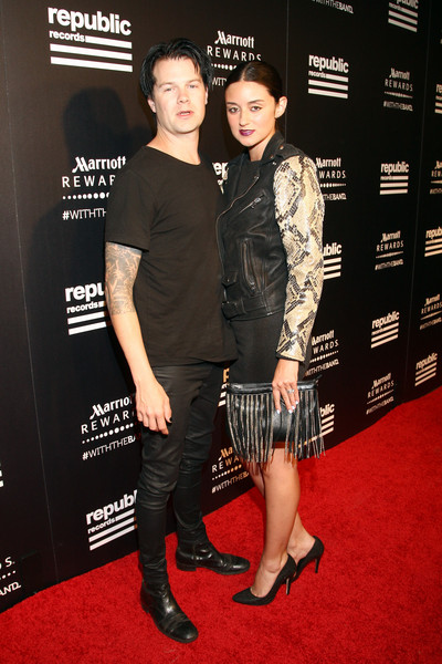 Republic Records Hosts 2015 VMA After Party [vma,red carpet,carpet,premiere,event,flooring,caroline damore,bobby holt,r,ysabel,west hollywood,california,republic records,party,party]