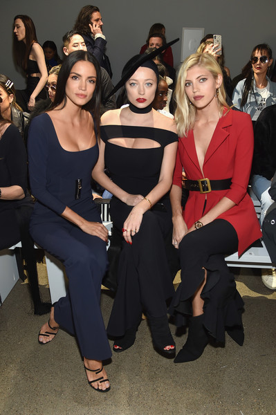 Chiara Boni La Petite Robe - Front Row - February 2019 - New York Fashion Week: The Shows [shows,fashion,event,beauty,fashion design,dress,fashion model,fashion show,little black dress,model,haute couture,chiara boni la petite robe,caroline vreeland,sofia resing,the shows at gallery ii,front row,l-r,devon windsor,spring studios,new york fashion week]