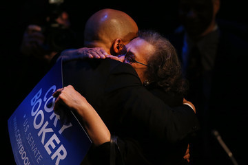Carolyn Booker Cory Booker Attends Election Night Gathering