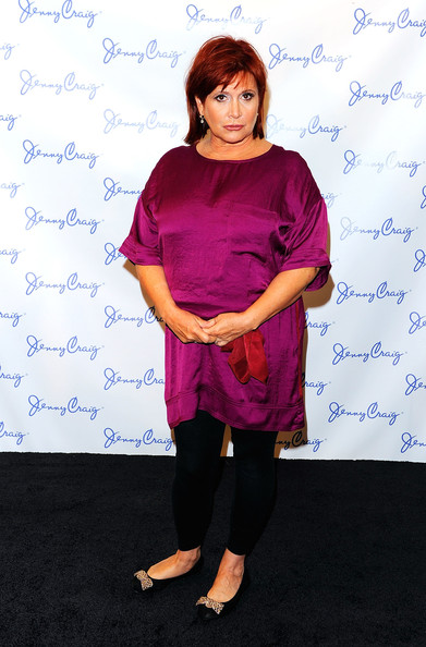 Jenny Craig Announces New Celebrity Spokesperson [clothing,shoulder,purple,joint,magenta,carrie fisher,celebrity spokesperson,midtown loft terrace,new york city,jenny craig,press conference]