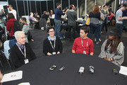 Spencer Rothbell, Rebecca Sugar, Zach Callison and Estelle attend the Cartoon Network Super Press Hour: CN Anything at New York Comic Con 2014 at Jacob Javitz Center on October 12, 2014 in New York City.  24884_011_0377.JPG