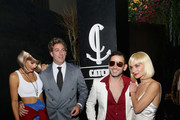 (L-R) Model Tori Praver, Catch Hospitality Group founders Mark Birnbaum, Eugene Remm and his wife Valerie Goldin-Remm attend Casamigos & CATCH Halloween party at CATCH Las Vegas in ARIA Resort & Casino on October 27, 2018 in Las Vegas, Nevada.