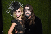 Jordyn Blum (L) and Dave Grohl attend the Casamigos Halloween Party on October 26, 2018 in Beverly Hills, California.