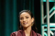 Actor Shay Mitchell of Lifetime's 'YOU' speaks onstage during The 2018 Summer Television Critics Association Press Tour on July 26, 2018 in Los Angeles, California.