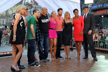 "Lara Spencer George Stephanopoulos Cast Of ""Dancing With The Stars"" Visits ABC's ""Good Morning America"""
