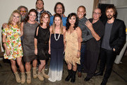 (back L-R) Actors Mark Boone Junior, Charlie Hunnam, Kim Coates, Theo Rossi, Dayton Callie and Niko Nicotera, (front L-R) Boot Campaign's Heather Sholl, Leigh Ann Ranslem, Ginger Giles, Sherri Reuland and Maria Bui attend Cast of FX's 'Sons of Anarchy' Host 'Boot Bash' benefiting The Boot Campaign at The Bunker Lofts on August 2, 2014 in Los Angeles, California.